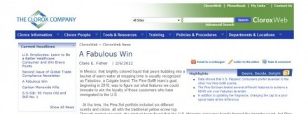 Clorox Intranet | A Fabulous Win